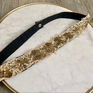 Beige and Bronze Waist Belt size medium